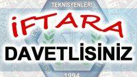 İFTARA DAVETLİSİNİZ