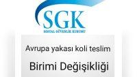 Avrupa Yakası SGK Reçete Koli Teslim Adresinin Değişmesi Hakkında