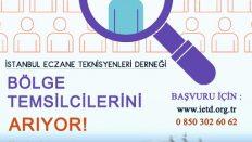 İstanbul Eczane Teknisyenleri Derneği Bölge Temsilcileri arıyor!